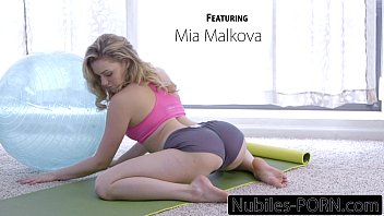 CoverNubiles-Porn Mia Malkovas Yoga Fuck - FULL VIDEO