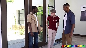 Rich Twink Welcomes Two Hung Black Gay Men 8 min