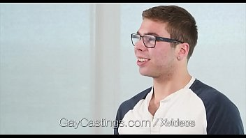 Gay glasses - Gaycastings geek with glasses gets facial
