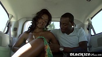 Pogo stick sex machine Cute ebony with great naturals fucked in the back of a car