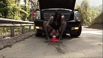 roadside object insertion and squirting on a public road