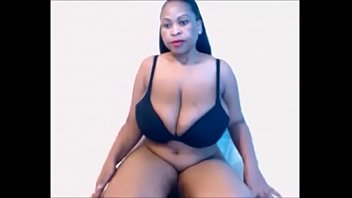 huge juggs ebony with nice cleavage playing