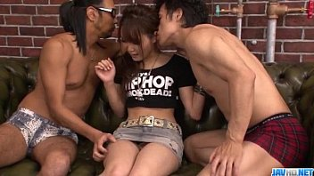 Dirty Asian threesome along insolent Miyu