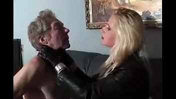Femdom martial arts leather Leather faceslap