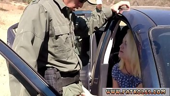 Fake police xxx Blonde honey does it on the hood of a car before