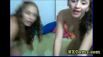 Jodie and Frannie tease on cam.