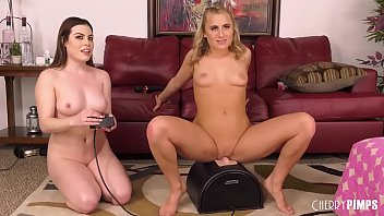 Nasty Lesbians Fucking And Squirting With Toys And A Sybian
