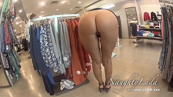 Flash in the mall and BJ in the fitting room