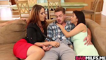 Miss Raquel and Penelope 3some sex with hot boyfriend