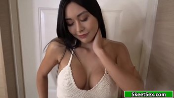 Busty 18yo asian gets fucked for cash