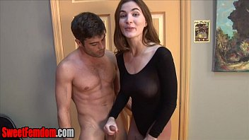 Leotard and tights masturbation Eat his cum for molly jane cuck cei handjob leotard pantyhose