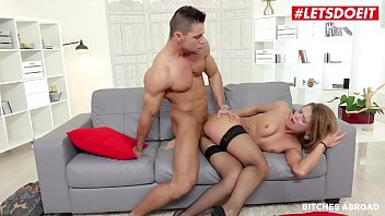 BITCHES ABROAD - (Angelo Godshack & Lara West) Big Guy Gets To Fuck Hard A Very Beautiful Teen Visitor From Budapest