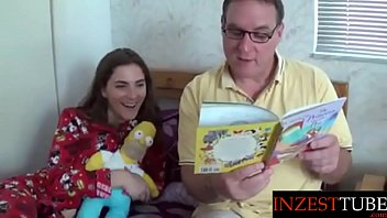 Best bedtime reading for adults Inzesttube.com - daddy reads daughter a bedtime story...
