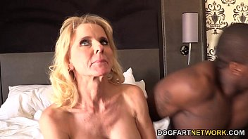 Lucky escort austin Cammille gets her cougar pussy banged by black guys