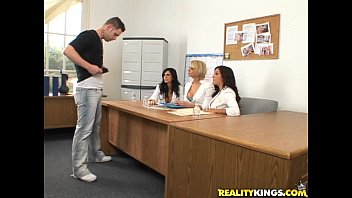 Brianna Beach, Francesca Le & Shy Love are the kinky jury in this cock casting! thumbnail