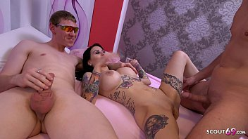 Nerd Guy First Time Join German Big Tits Teen in Threesome