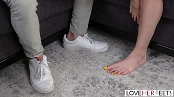 LoveHerFeet - Perfect Teen Gets Gives A Perfect Footjob On a Big White Dick
