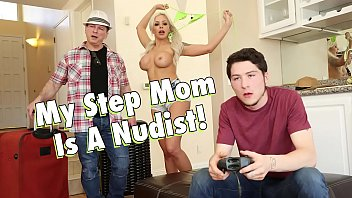 Nudist tube family Filthy family - my busty blonde step mom, nina elle, is a nudist
