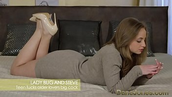 Dane Jones Young pretty teen with perfect bubble butt takes older fat cock