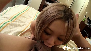 Blonde beauty sucking and riding hard cock