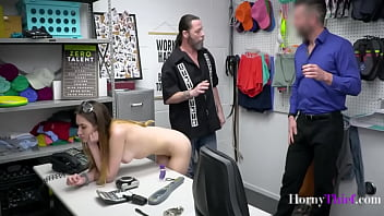 Dad And Cop Teach Stealing Teen A Lesson- Sera Ryder
