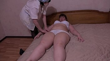 The medical examination for the lesbian ended with a deep fisting and orgasm. The role-playing game of two girlfriends when the world is coronavirus.