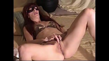 Masked wife opens her legs