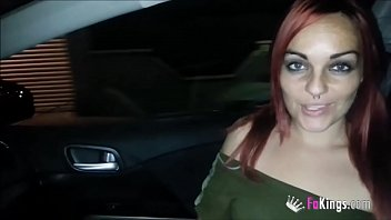 Spanish redhead looks for dicks in the middle of the night to cum in her mouth