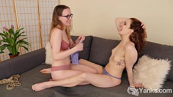 Yanks Lesbian Sierra licks Endza over the Edge