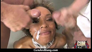 Black Slut Group Attacked In Her Mouth 2