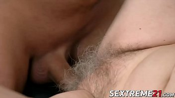 Voluptuous granny lets young guy pound her good and hard