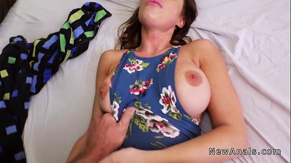 Busty amateur babe anal fingered pov