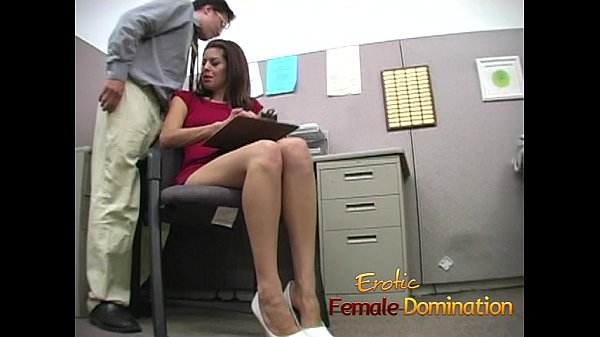 Slut makes a co-worker cum using only her sexy feet-6