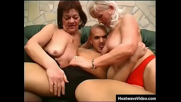 Granny and her friend are fucked by younger boy