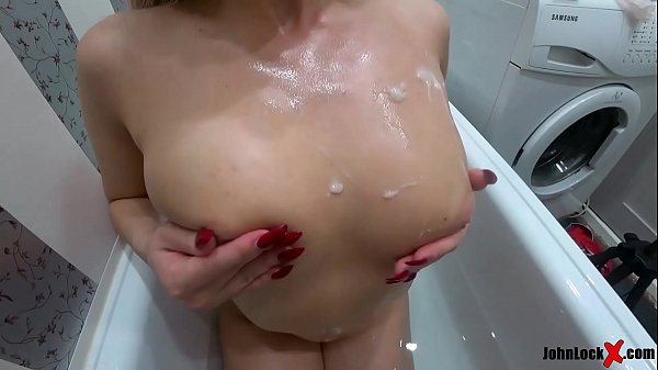 Hot Blonde Passionate Blowjob while Shower - Oral Creampie