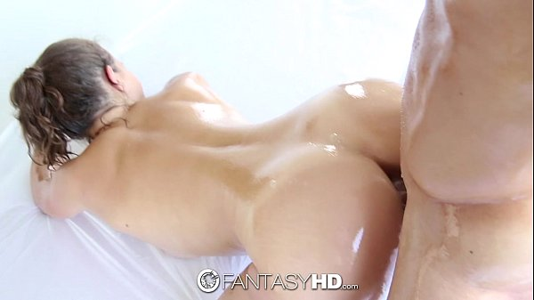 FantasyHD - Super oiled up sexy shower time fuck for Lily Love Thumb