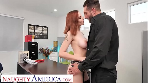 Naughty America - Lilian Stone drains her boss' balls to help relieve his stress