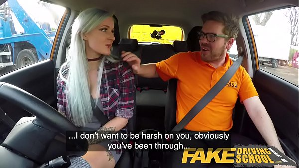Fake Driving School Busty goth learner in anal and sex toys lesson finale Thumb