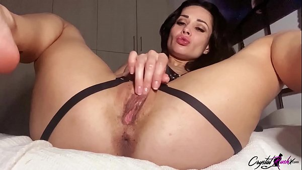Crystal Rush Masturbate Pussy and Real Orgasm