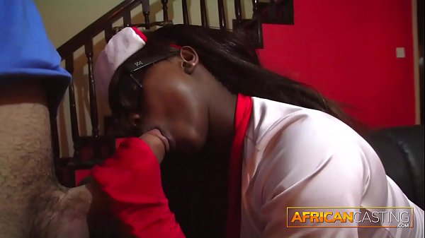 Crazy African nurse thinks blowjobs cure diseases