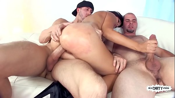Big Booty Aimee Black Gets Ass and Pussy Pounded by 2 Big Cocks