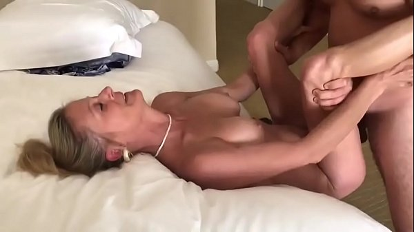 Hubby Sharing his mature wife with young stud