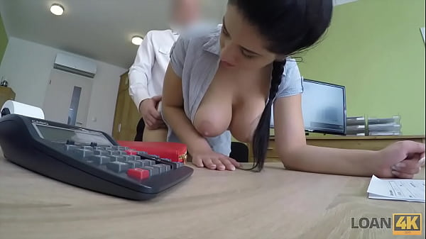 LOAN4K. Crazy sex on the desk in loan office for necessary money