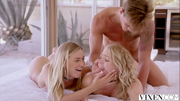 VIXEN Mia Malkova and Natalia Starr share a HUGE cock