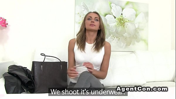 Amateur babe fucking and sucking agents dick