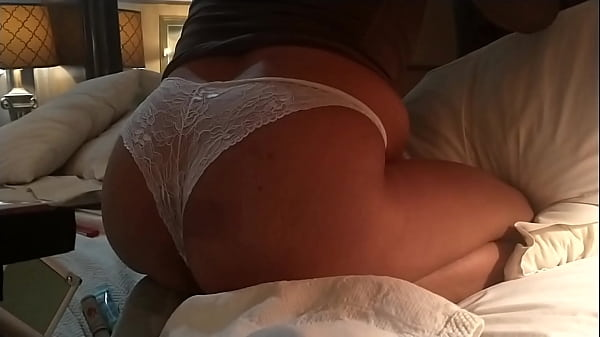 Chubby Latina with a White Lingerie