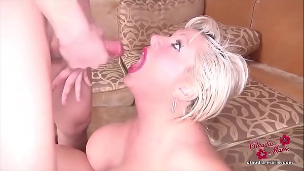 Fake Titted Claudia Marie Takes THREE Cumshots ...