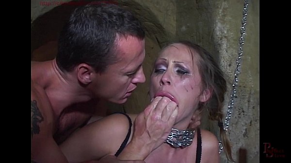 Mandy Bright chained and double penetrated in h...
