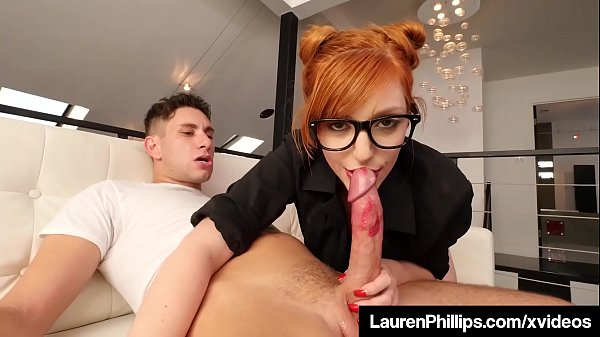 Hot RedHead Lauren Phillips Blows Cock In Sexy ...