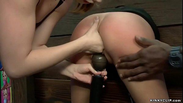 Brunette is lezdom fisted in public Thumb